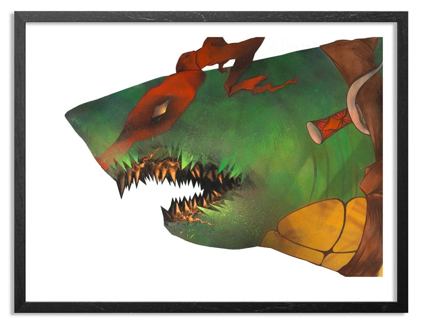 TMNT Raphael Print and Artwork by Shark Toof
