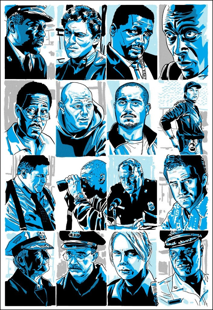 The Wire Character Profile Prints 3