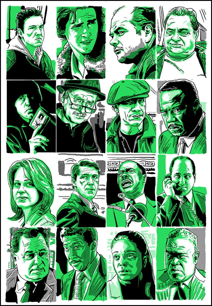 The Wire Character Profile Prints 2