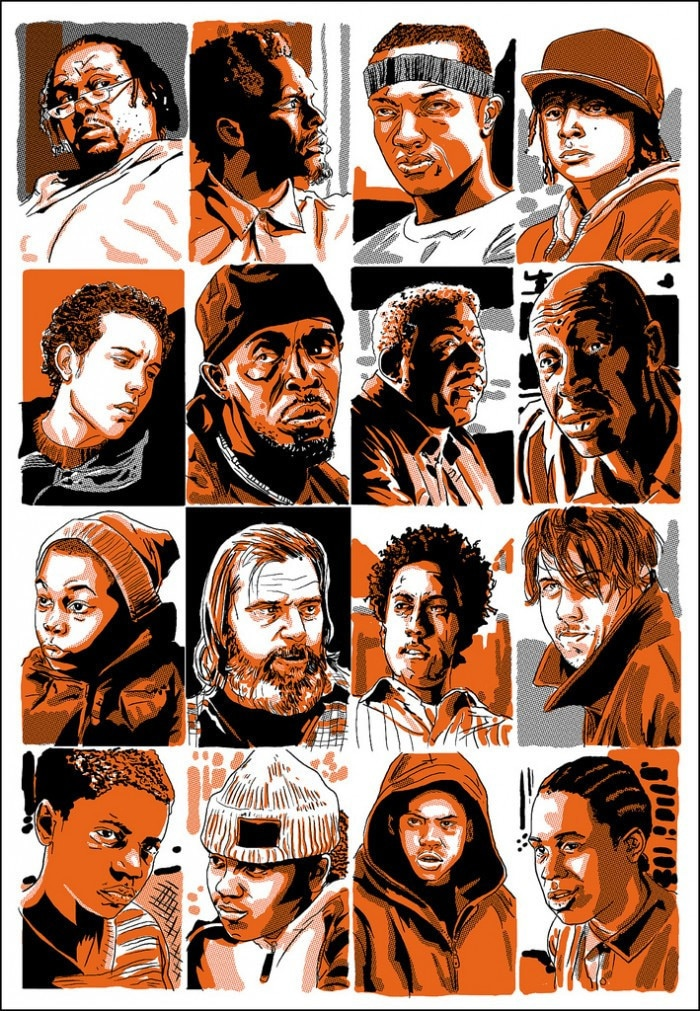 The Wire Character Profile Prints 1