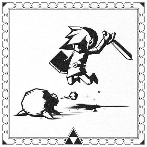 Zelda Link Letterpress Print