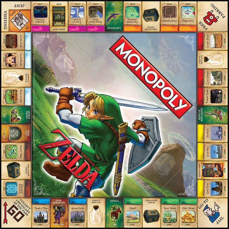 Zelda Monopoly Game Board