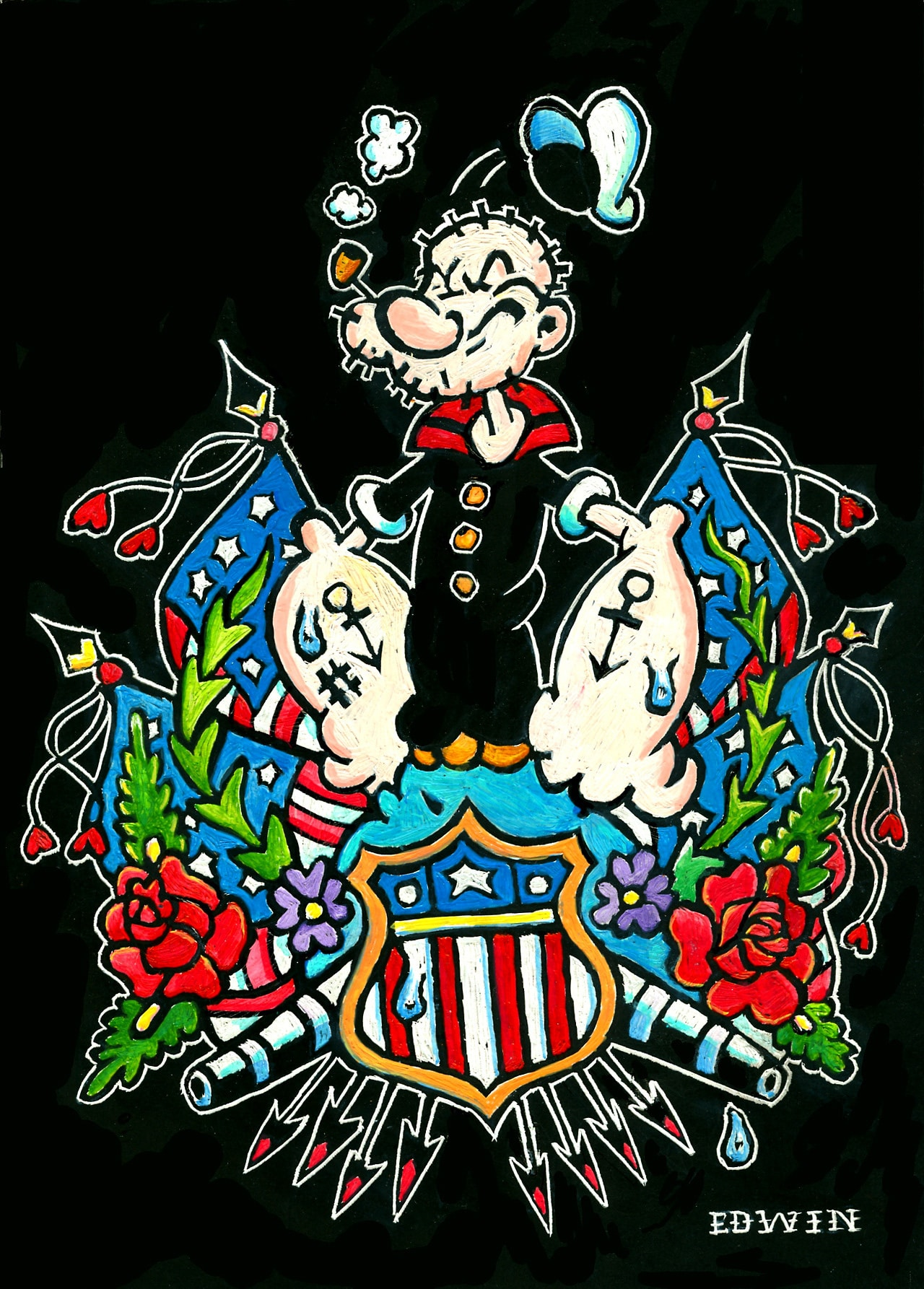 Popeye Tribute Art Show Print 15