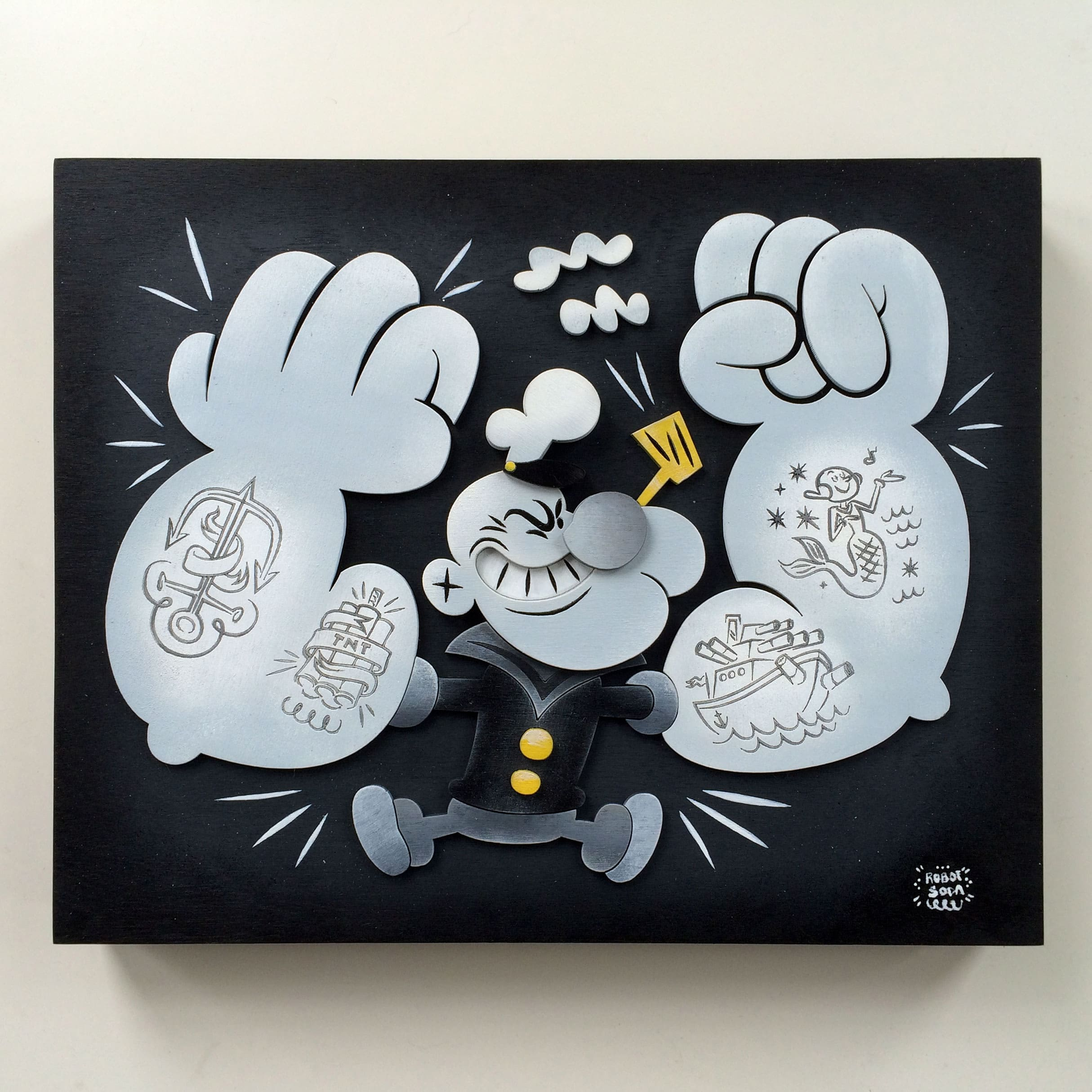 Popeye Tribute Art Show Print 4