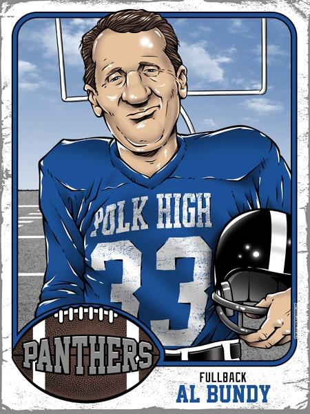 Al Bundy Polk High Panthers Sports Card Print