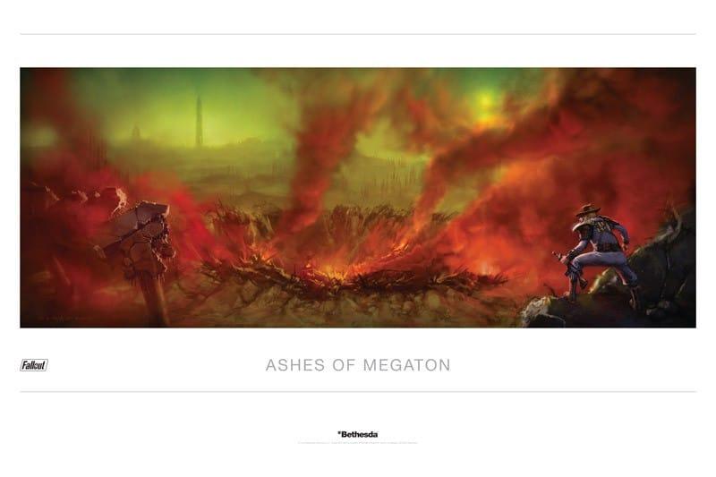 Ashes of Megaton Fallout Lithograph