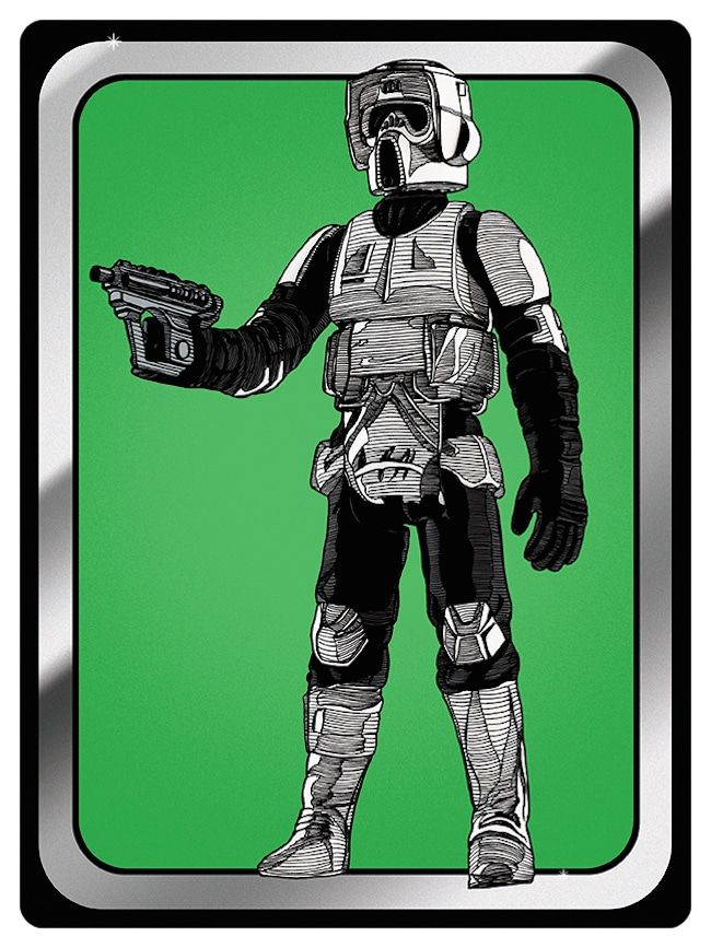 Star Wars Biker Scout Action Figure Print