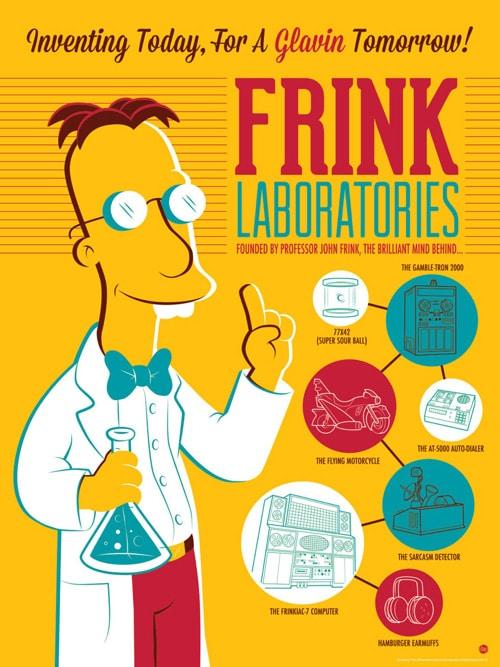 Frink Labs Simpsons Print