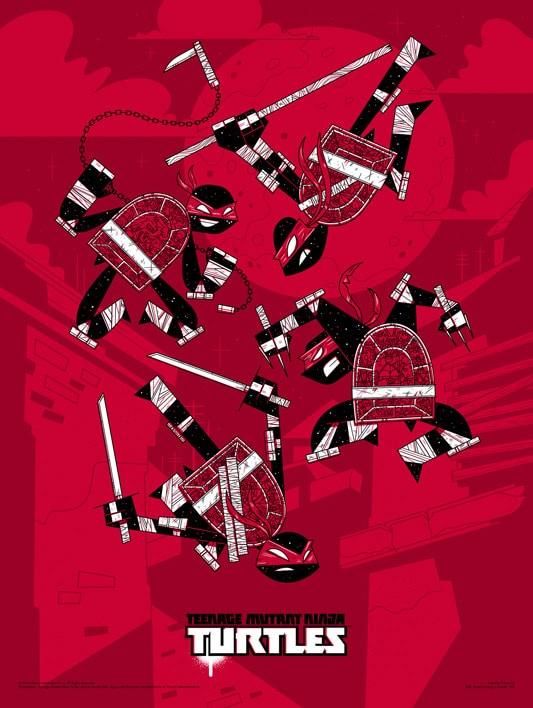 Andrew Kolb Mondo TMNT Print