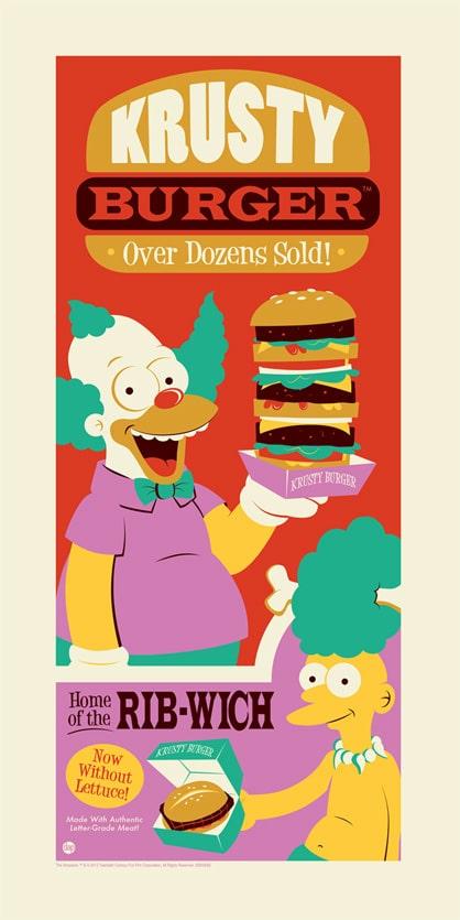 Krusty Simpsons Print