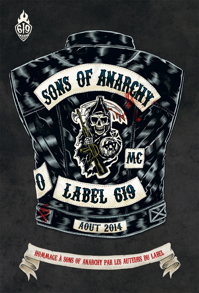 Sons of Anarchy Tribute Art and Comic Book Flyer