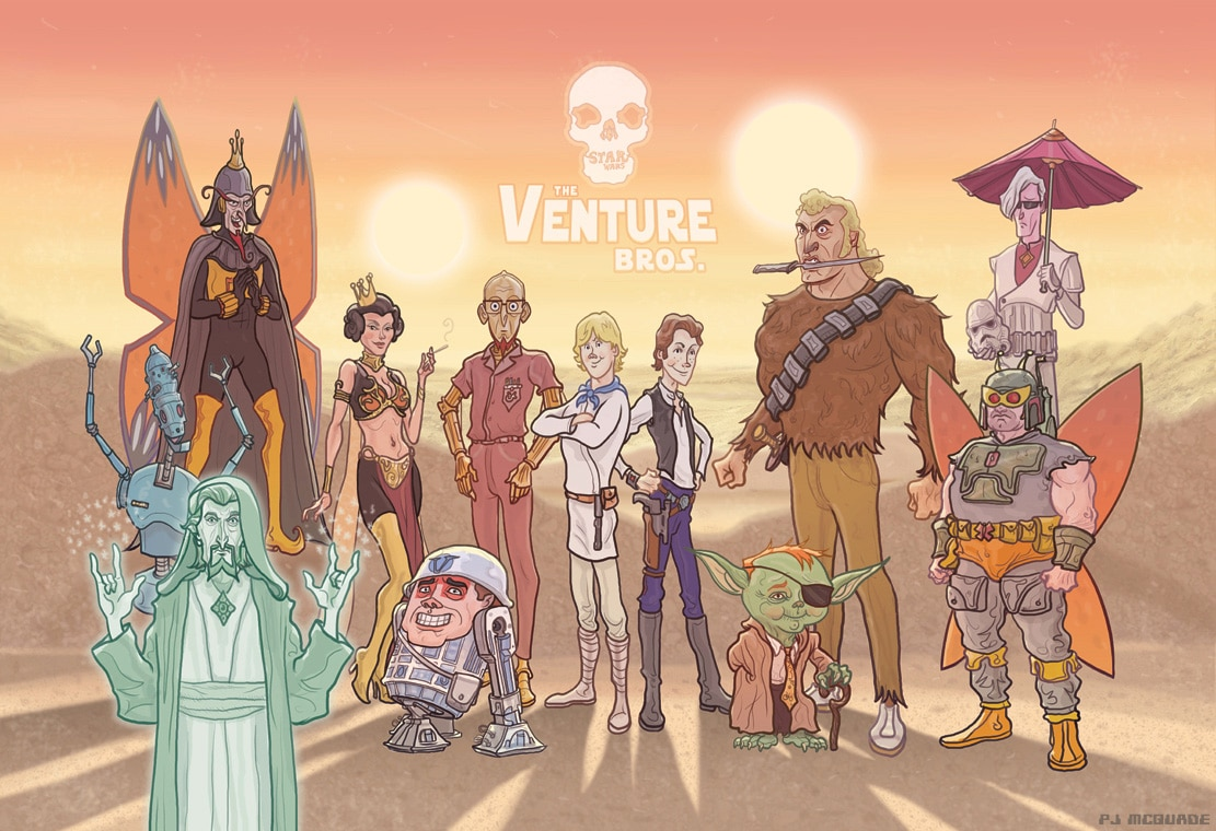 Venture Bros/Star Wars Mashup Print