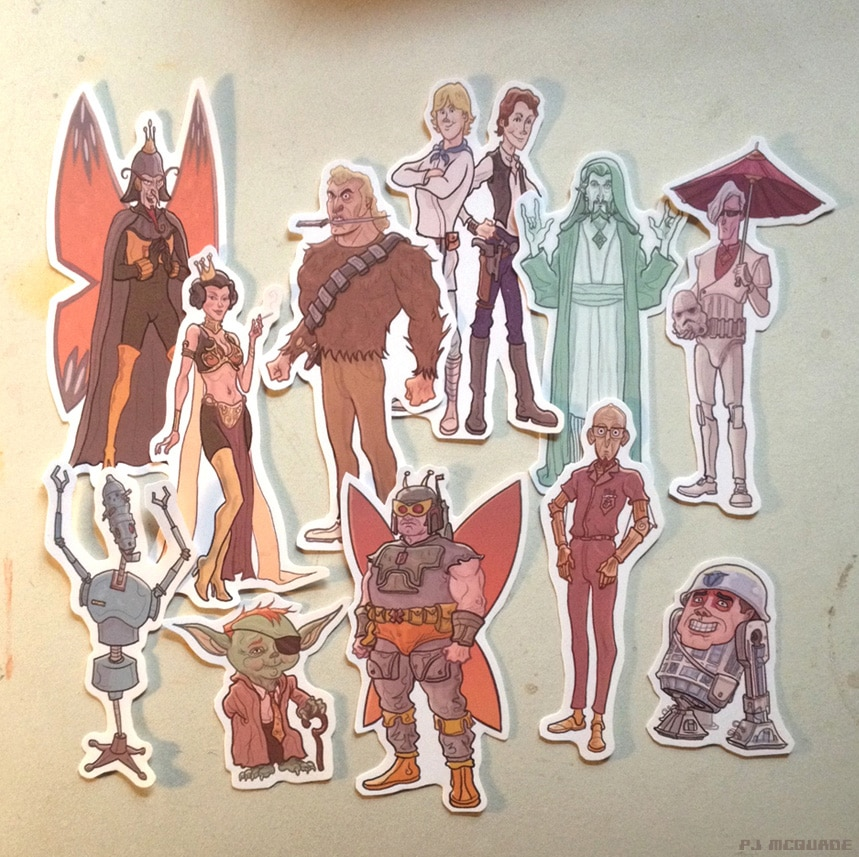 Venture Bros/Star Wars Stickers