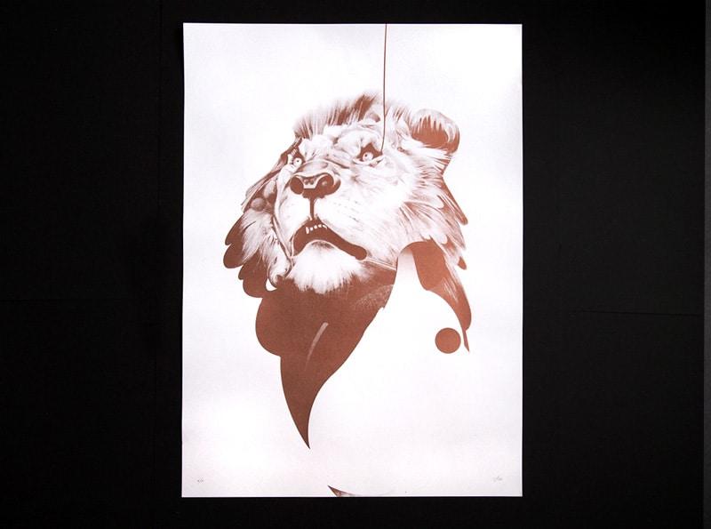 Lion 01 | Metallic Print by Von