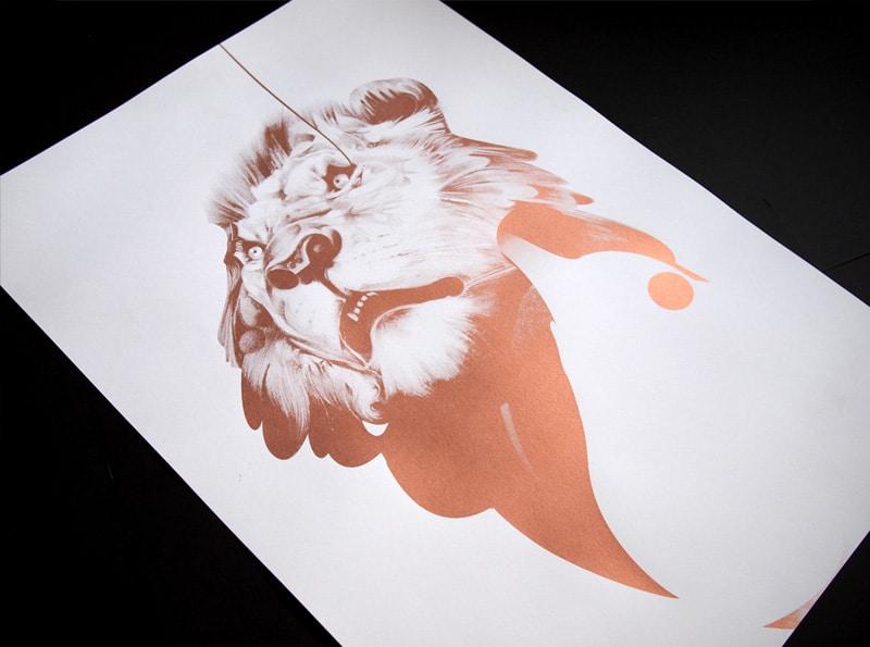 Lion 01 | Copper Edition Print by Von