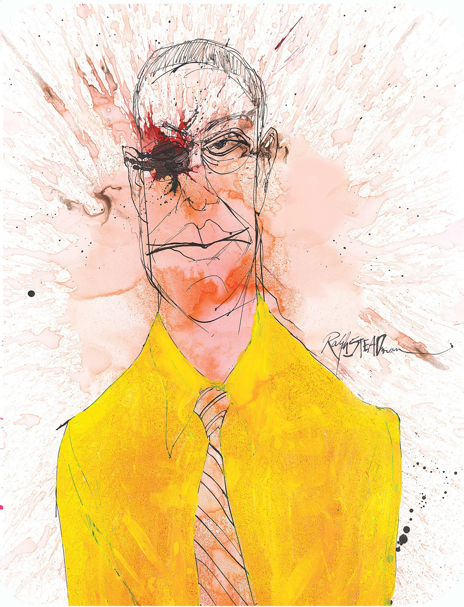Ralph Steadman Gus Breaking Bad Blu-ray Cover