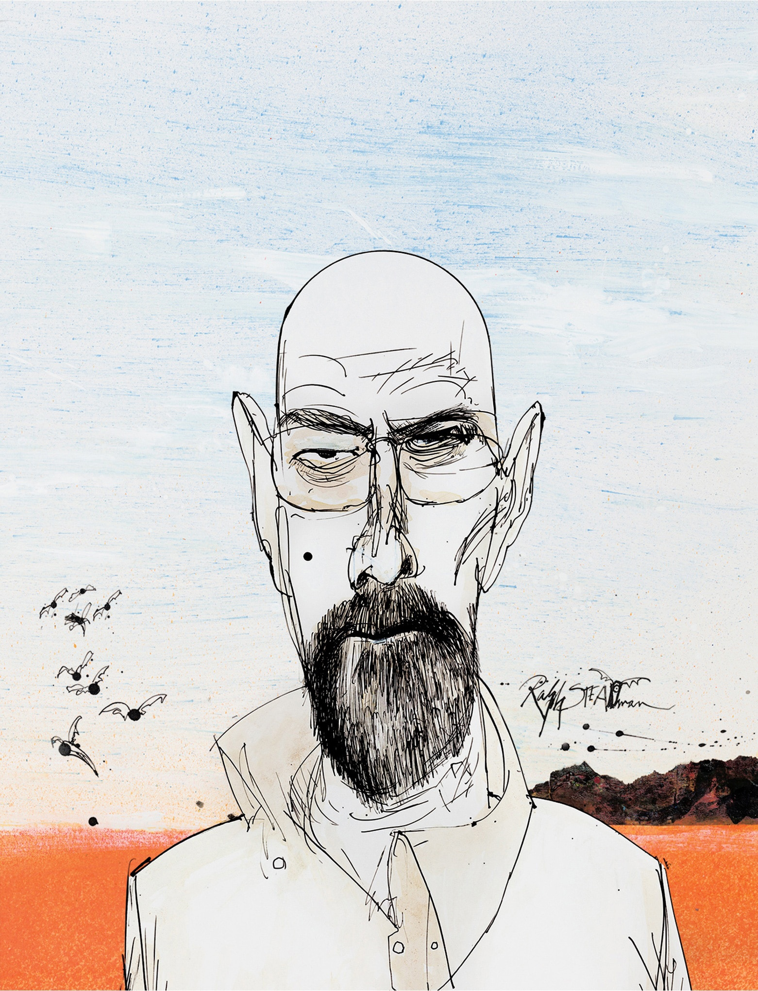 Ralph Steadman Walter White Breaking Bad Blu-ray Cover