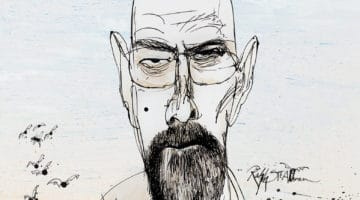 Ralph Steadman Breaking Bad Blu-ray Cover Illustrations