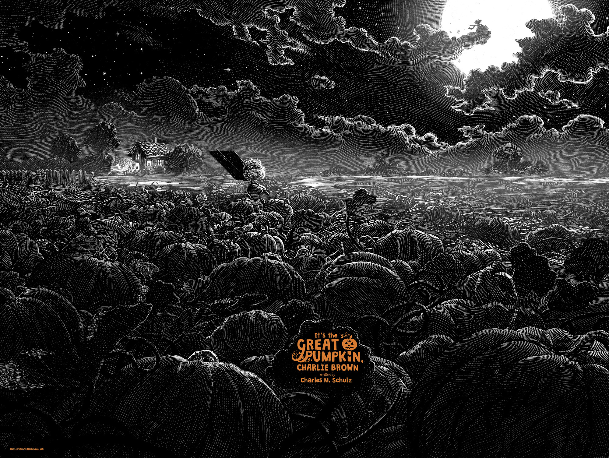 It's The Great Pumpkin, Charlie Brown Print by Nicolas Delort v 1