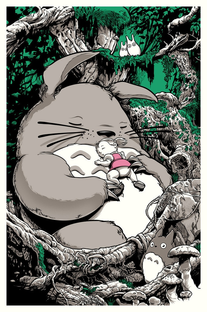 Totoro Movie Print