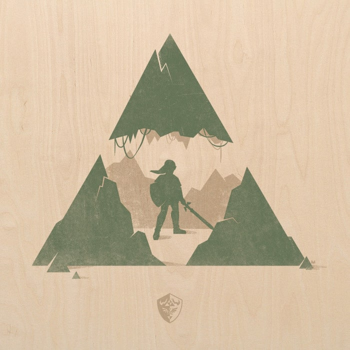 The Legend Of Zelda Wood Print By David Moscati