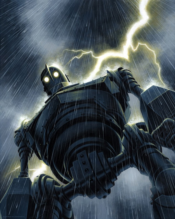 The Iron Giant Lightening Poster