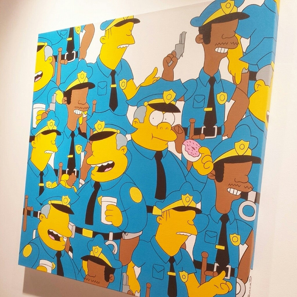 Simpsons Painting