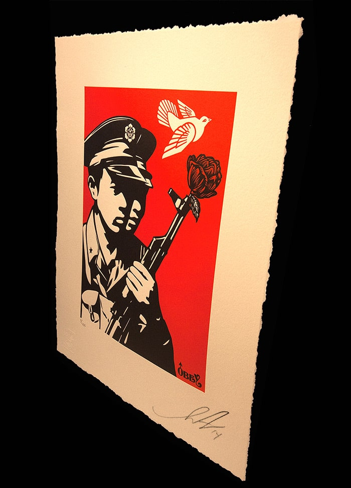 Chinese Soldiers Letterpress from Obey Angle