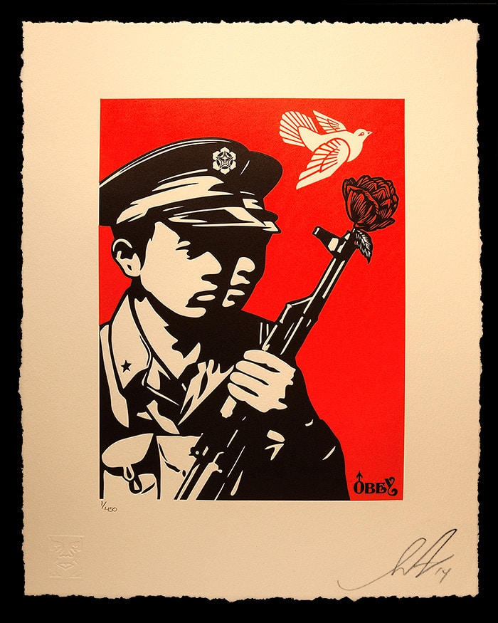 Chinese Soldiers Letterpress from Obey