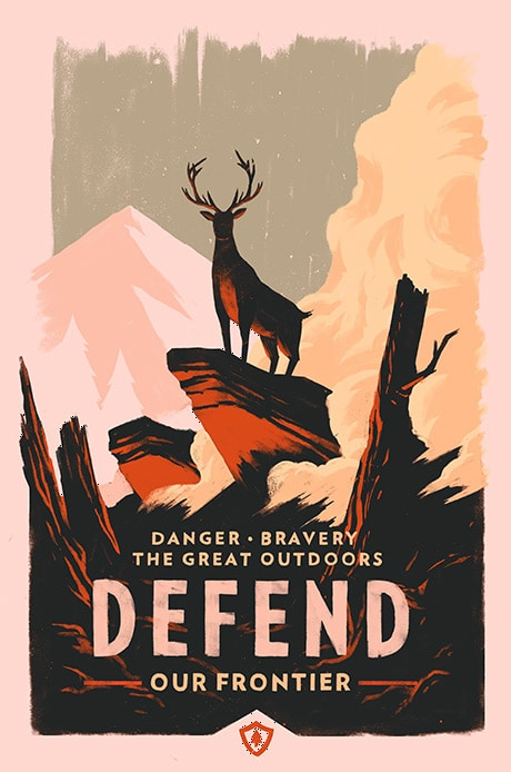 Defend Firewatch Video Game Print by Olly Moss