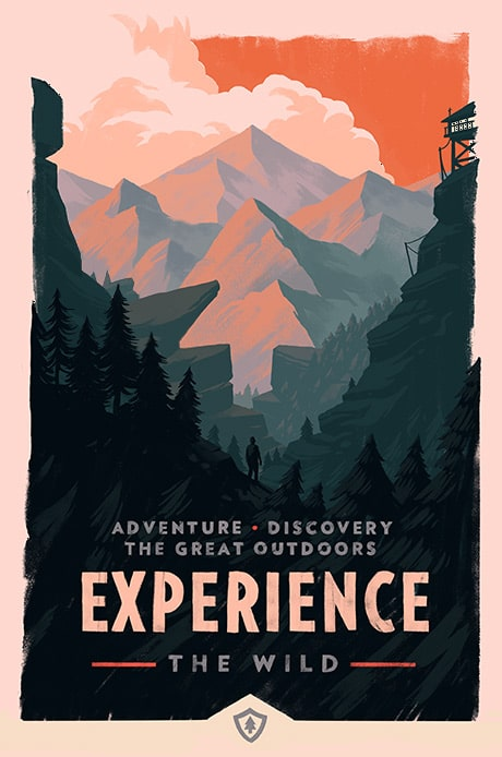 Experience Firewatch Video Game Print by Olly Moss