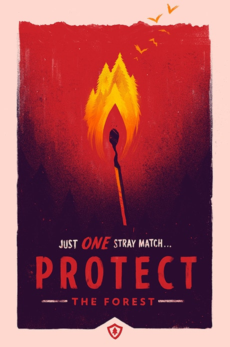 Protect Firewatch Video Game Print by Olly Moss