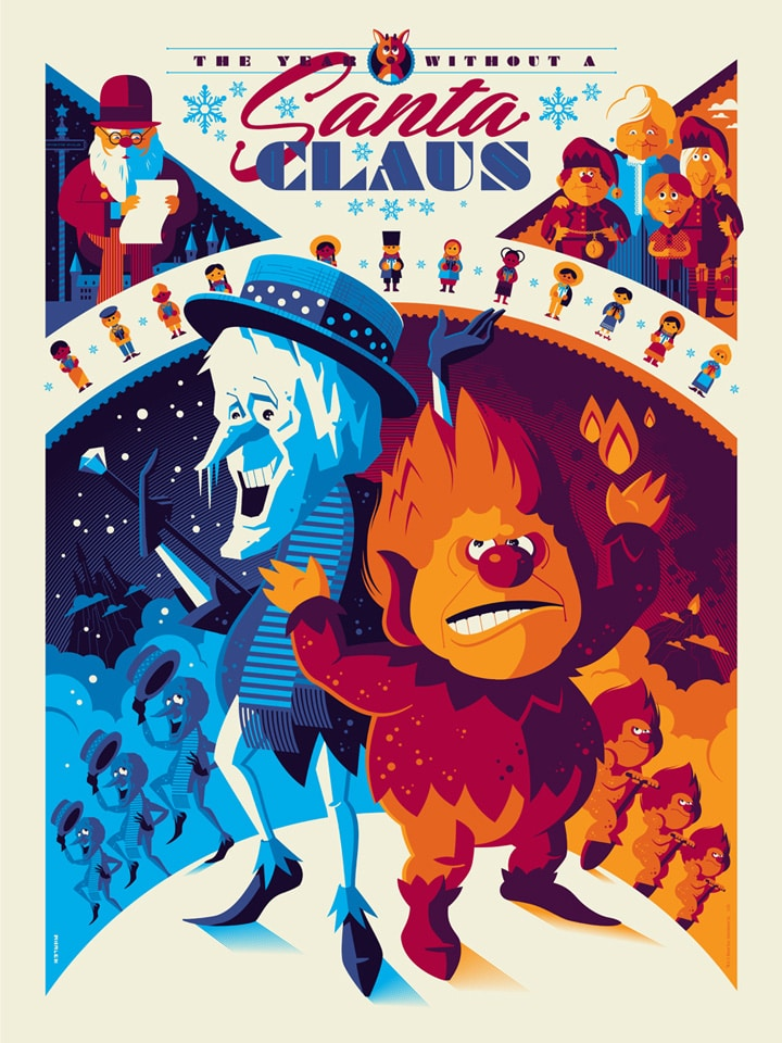 The Year Without a Santa Claus Print by Tom Whalen
