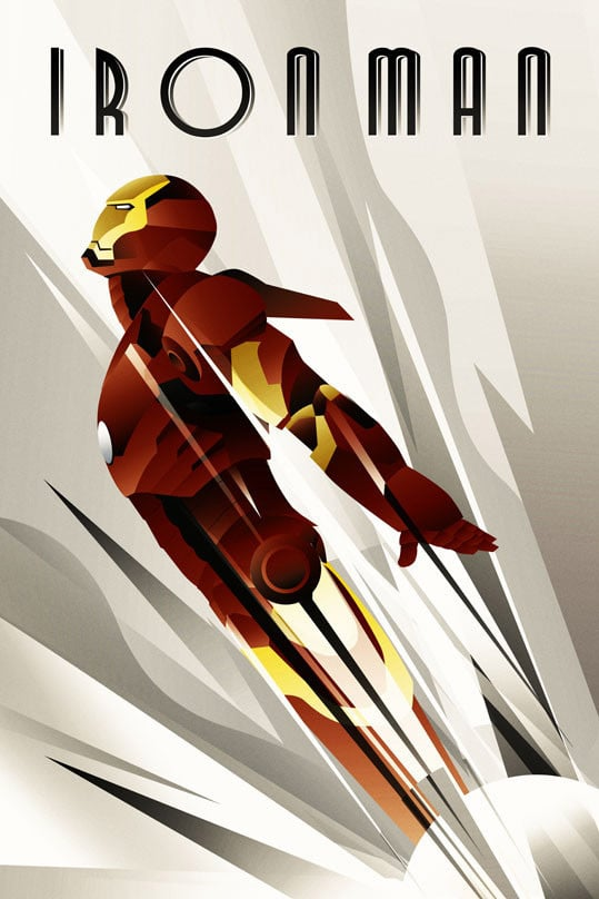 Art Deco Iron Man Print