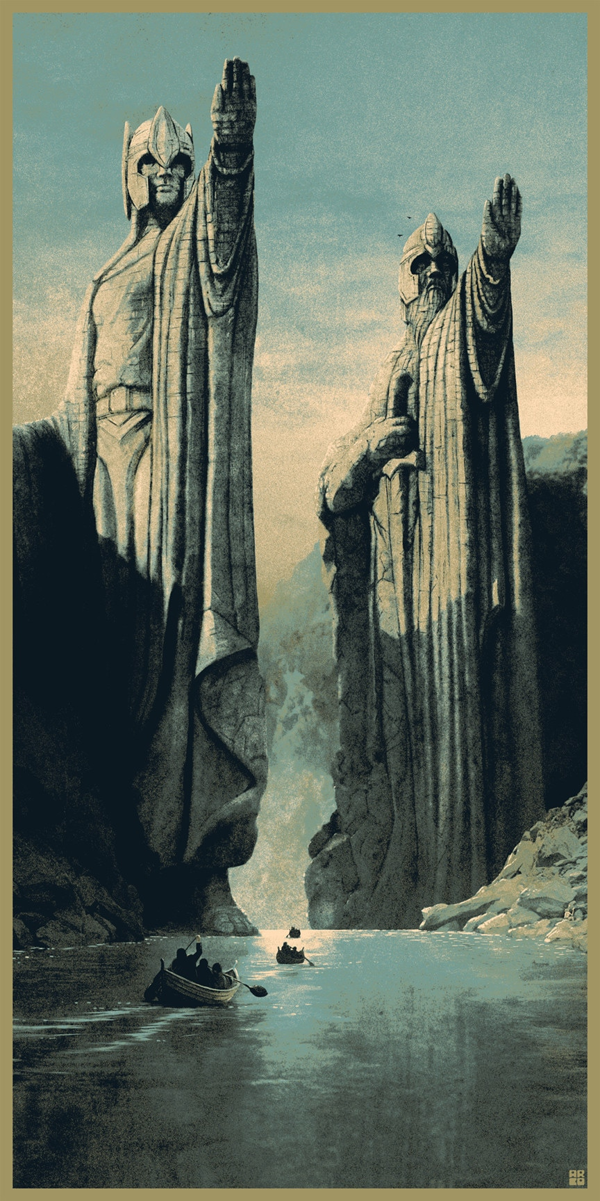 The Argonath, long have I desired to look upon the kings of old.