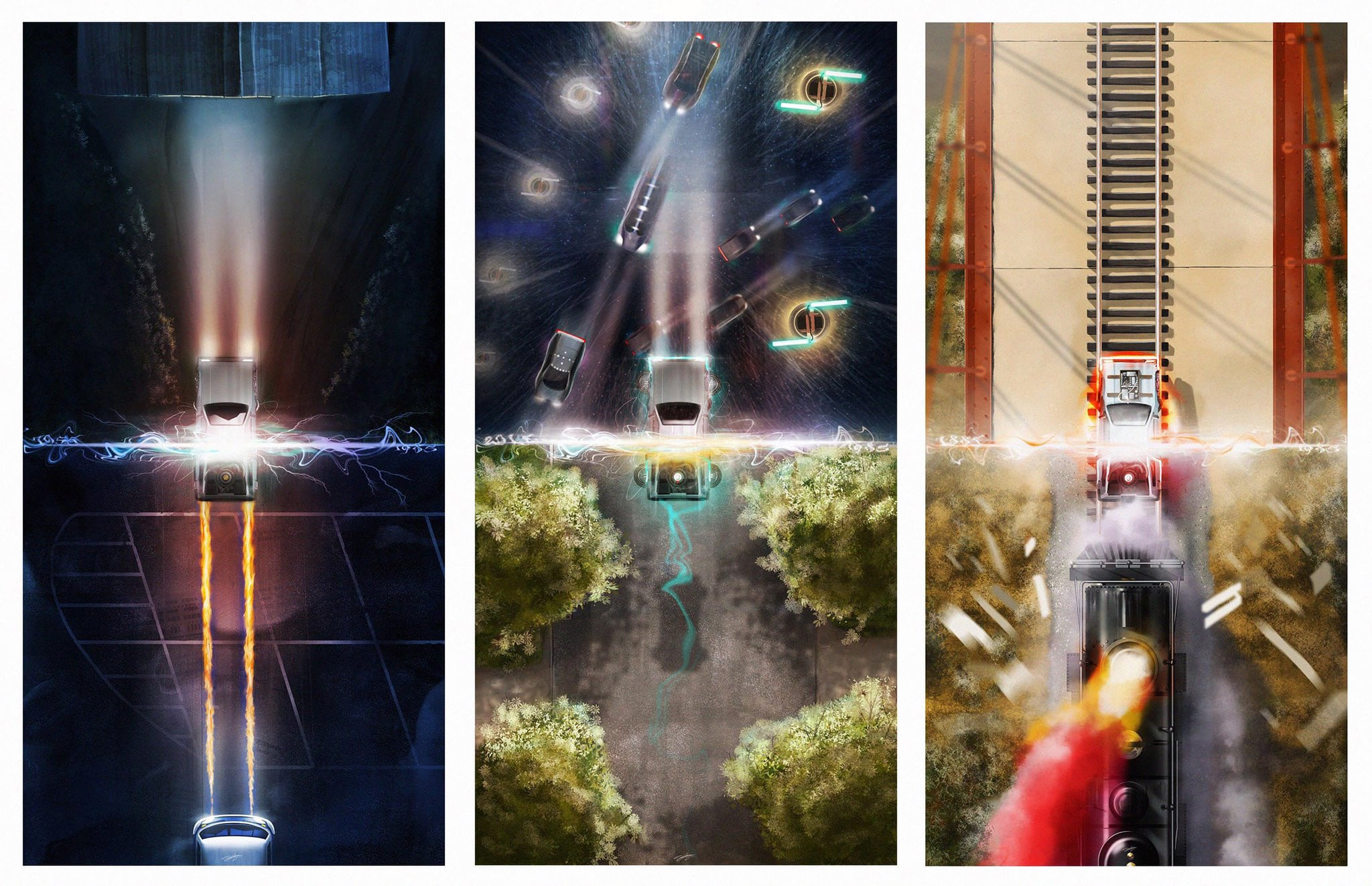 Back to the Future Trilogy Movie Prints by Andy Fairhurst