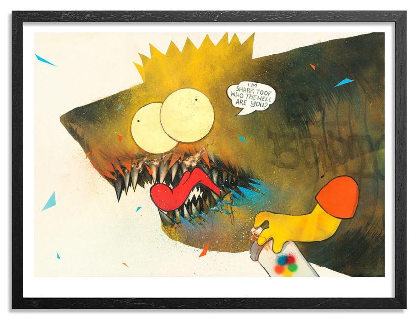 Shark Toof Bart Simpson Print