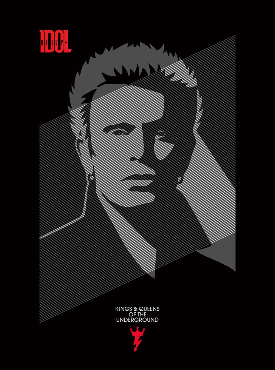 Billy Idol Kings & Queens of the Underground Print by Obey