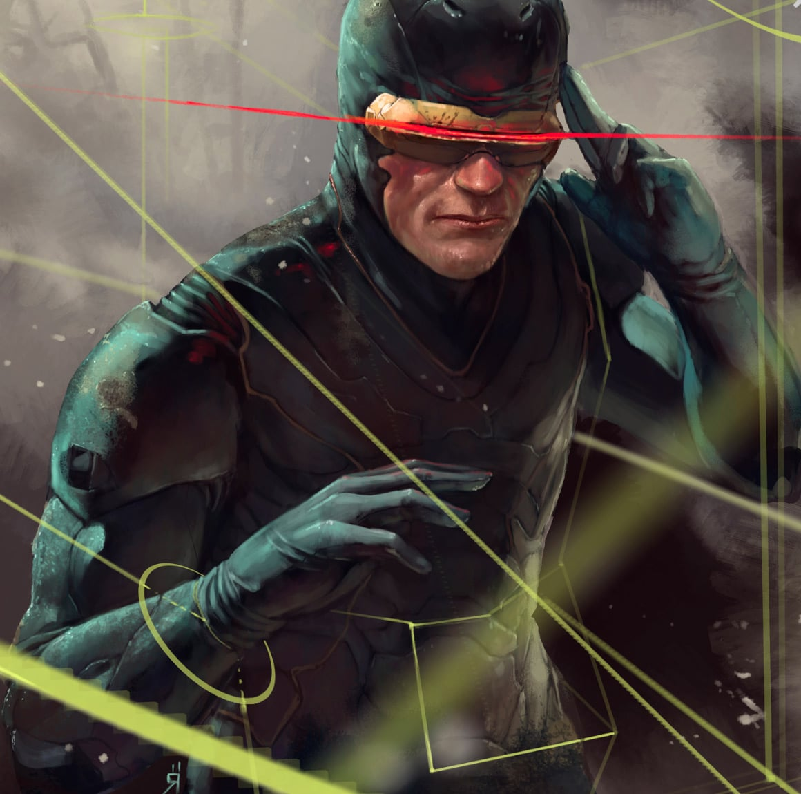 Cyclops X-Men Print Detail