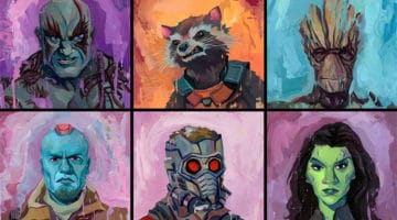 Guardians of the Galaxy Awesome Mix Up Print