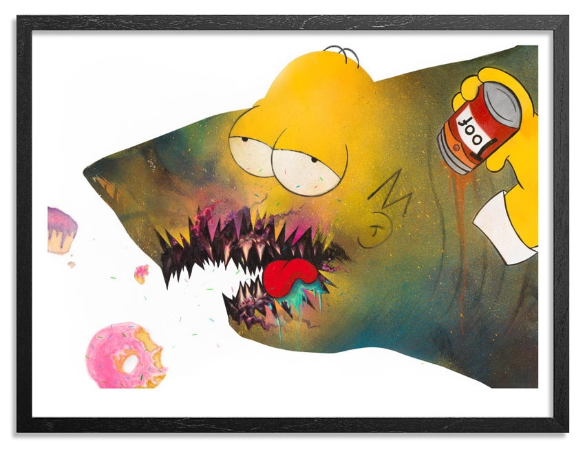 Shark Toof Homer Simpson Print