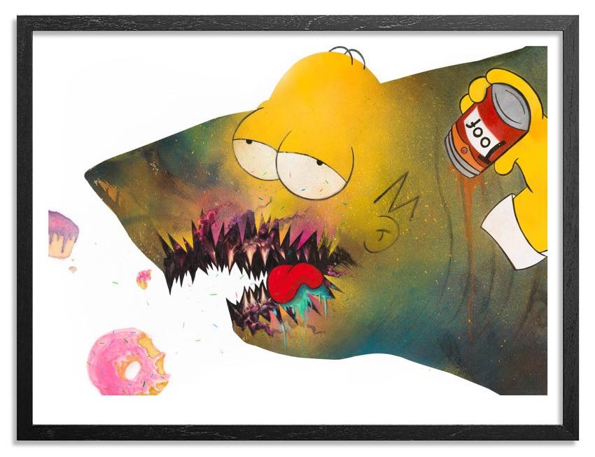 Shark Toof Homer Simpson Print