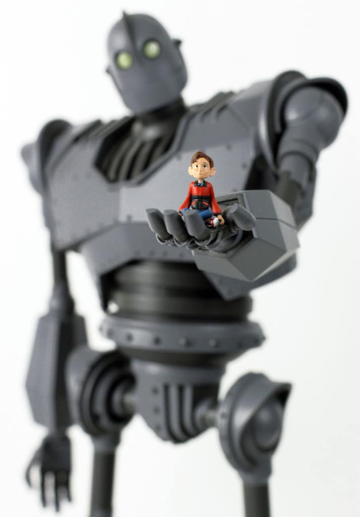 The Iron Giant Toy with Boy Figure