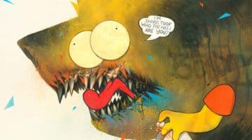 Shark Toof Homer and Bart Simpson Prints