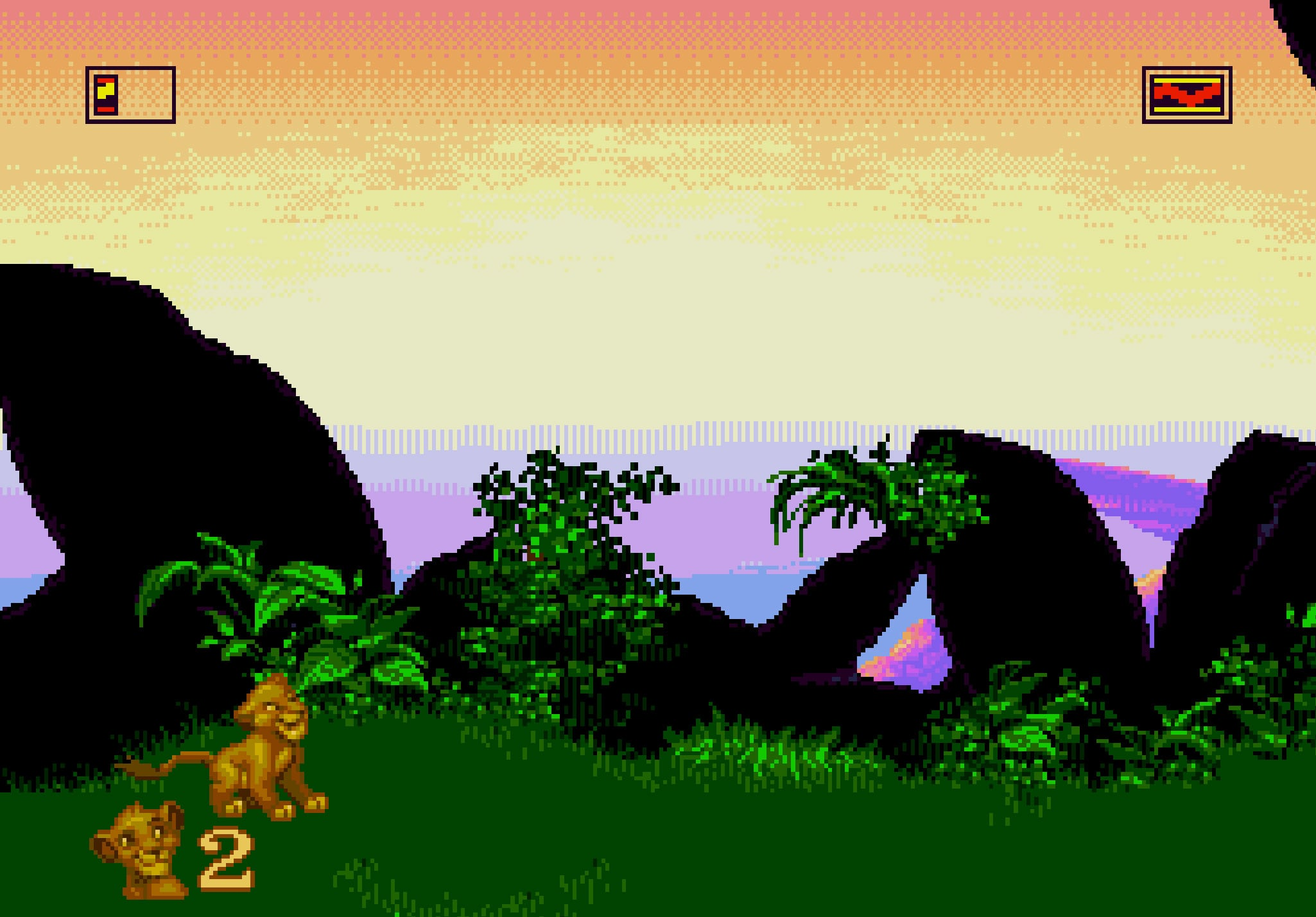 The Lion King Video Game Screenshot