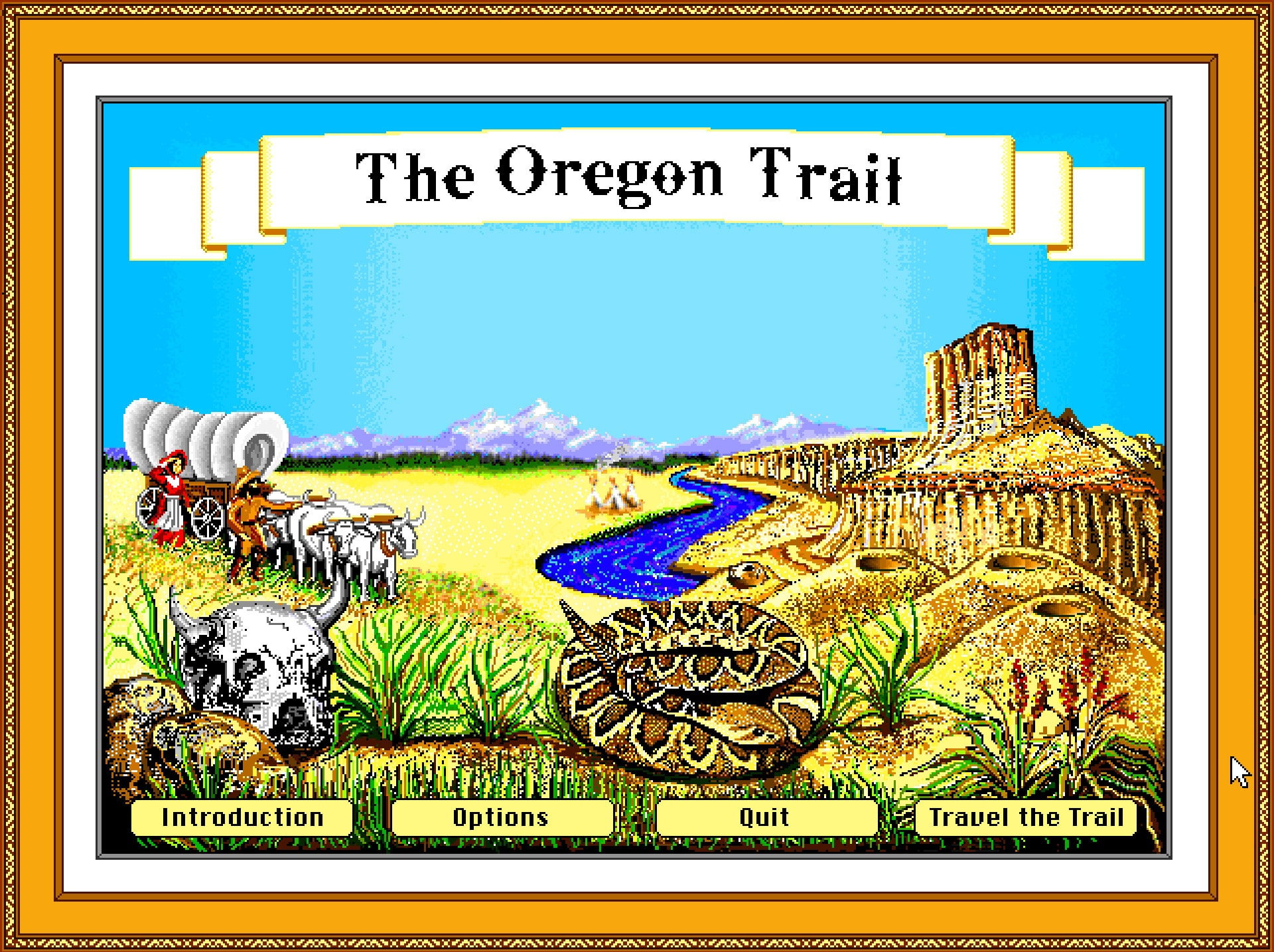 The Oregon Trail Deluxe Game Screenshot 1