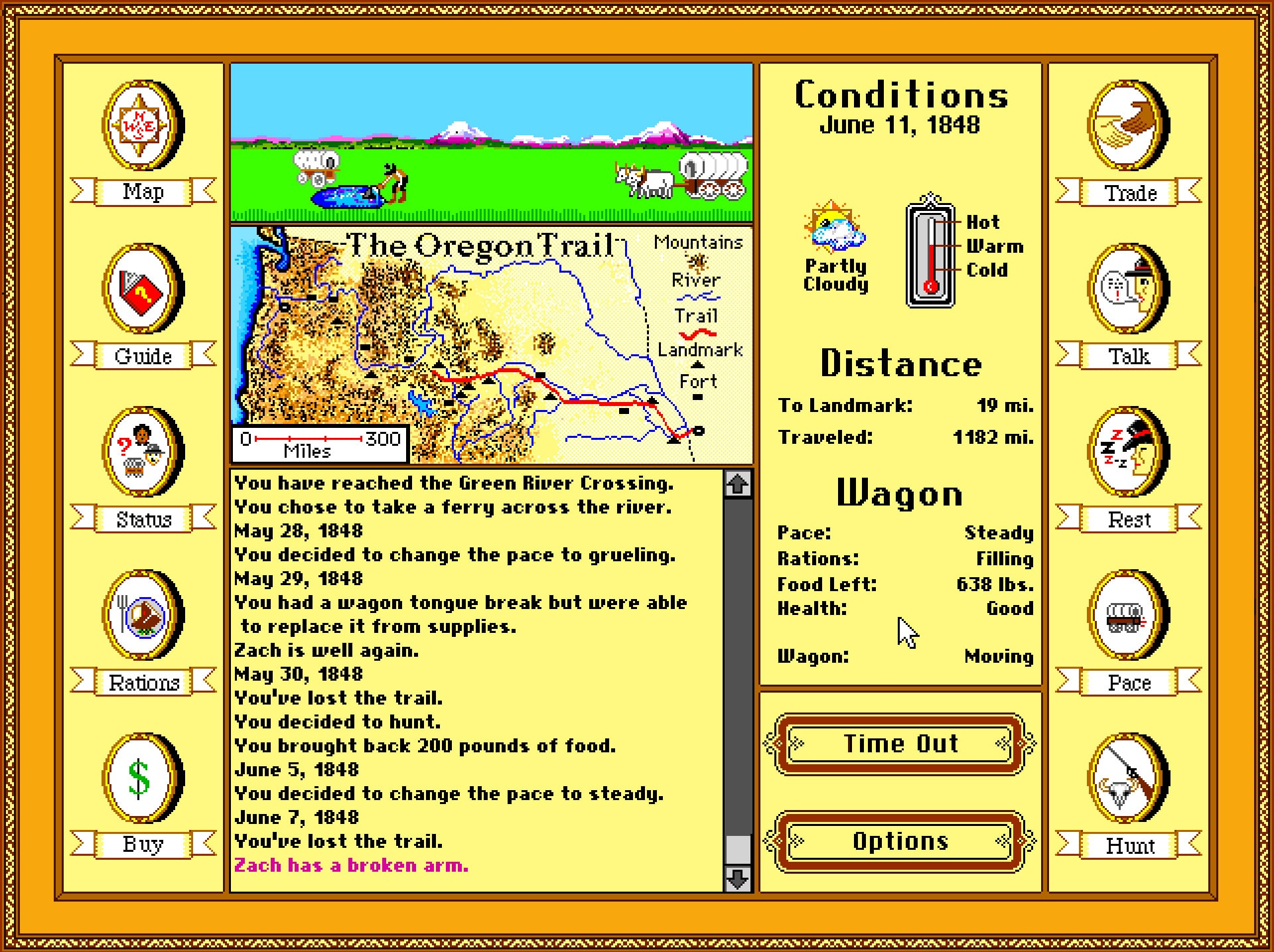 The Oregon Trail Map