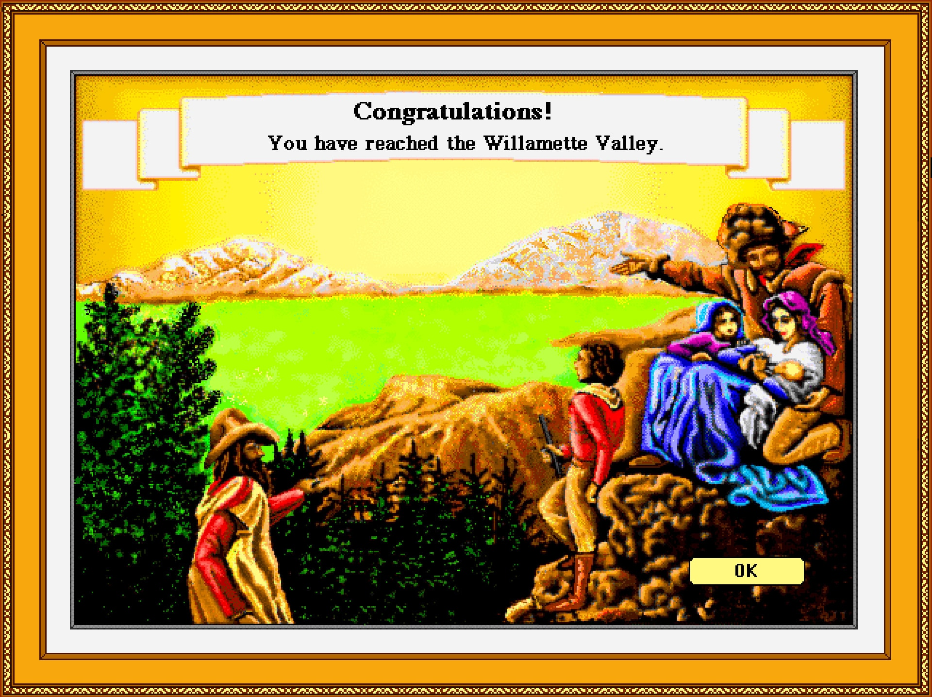 The Oregon Trail Game Ending