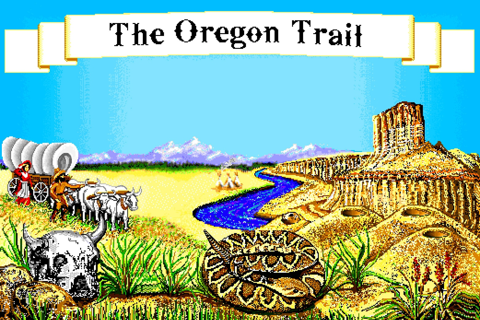 The Oregon Trail Video Game Cover