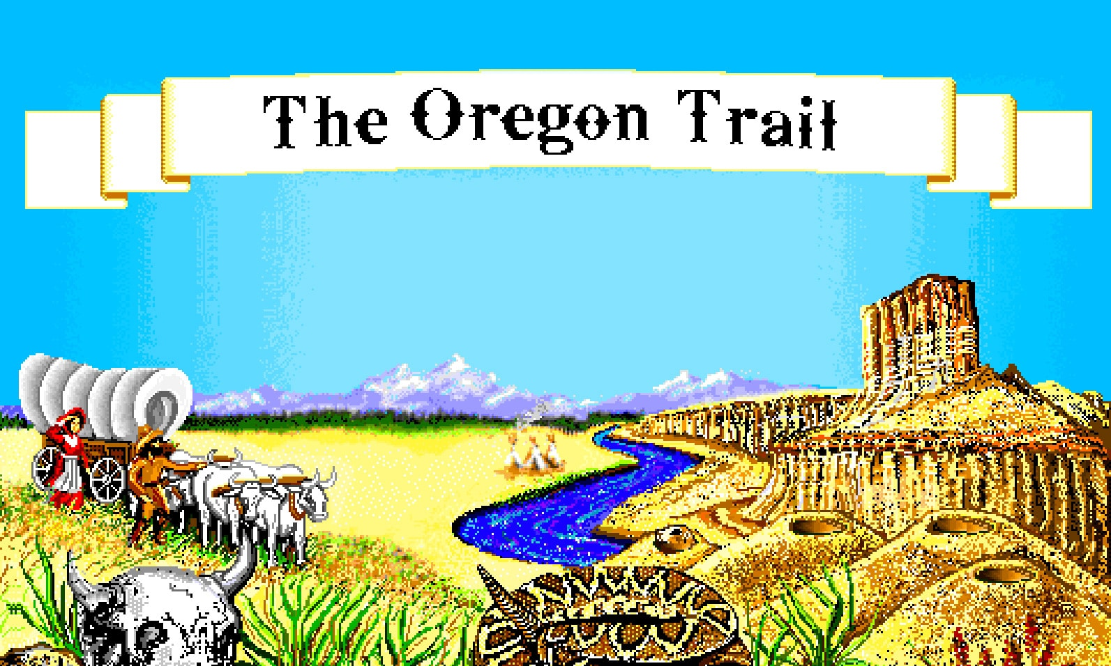 play the oregon trail deluxe and 2k  old games online